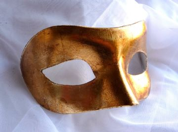 Mens Genuine 24k Gold Leaf Venetian Eye Mask (1) (1)